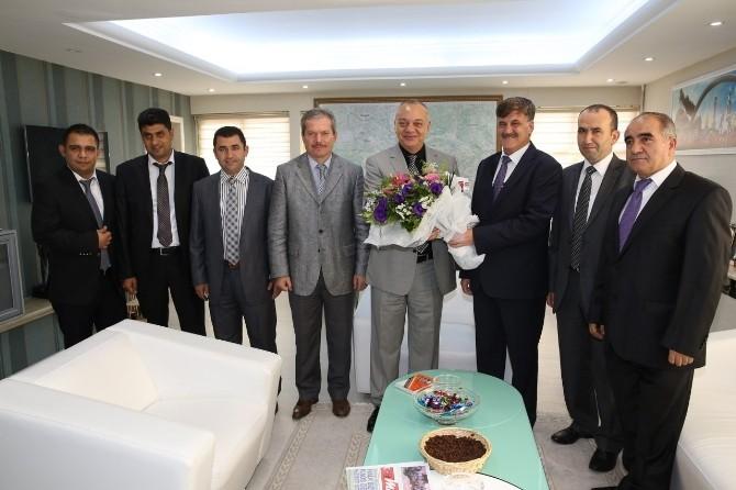 Başkan Ergün Halk Otobüsleri Kooperatifini Ağırladı