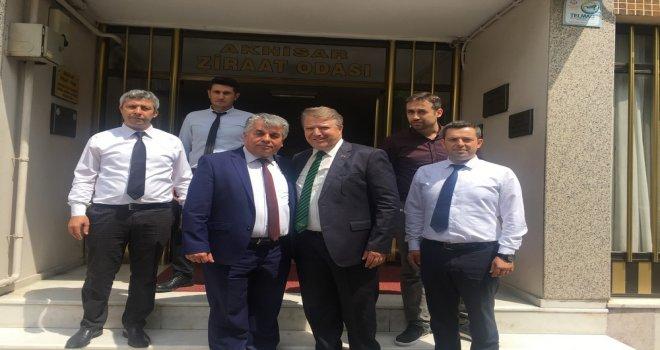 Ak Parti Manisa Milletvekili Aday Adayı Karaoğlu Ziraat Odasını Ziyaret Etti