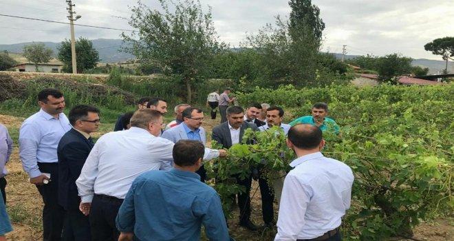 AK Parti Milletvekili Uğur Aydemir, afet mağdurları ile buluştu