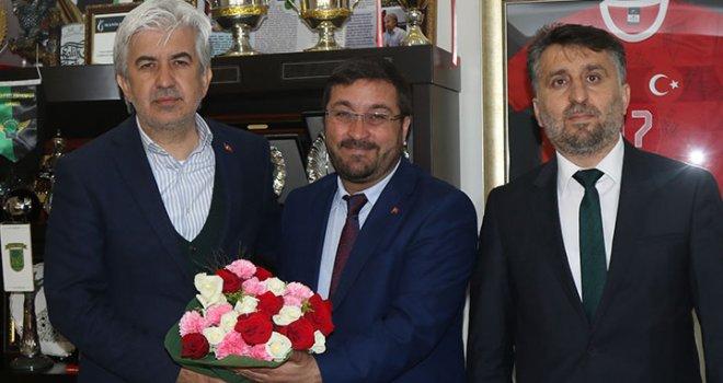 Akhisar Belediye Başkanı Salih Hızlı, Müftü Eviş'i konuk etti