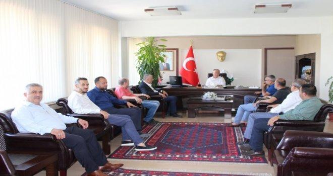Akhisar Spor Yönetim Kurulu, Kaymakam Sabit Kaya Ziyaret etti.