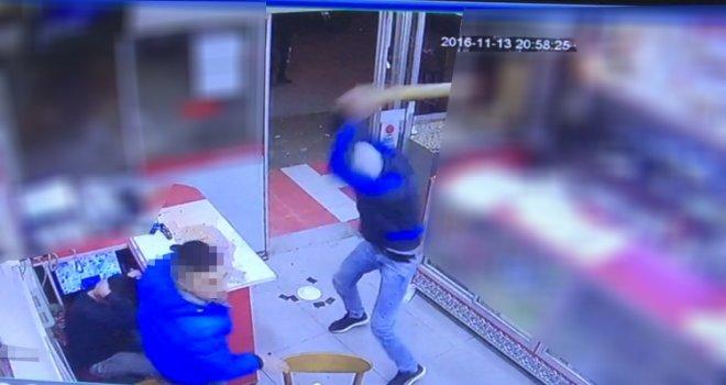 Akhisar'da bir işyerine saldırı