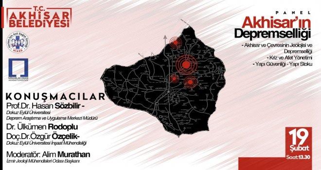 Akhisar'da Deprem Üzerine Panel Düzenleniyor