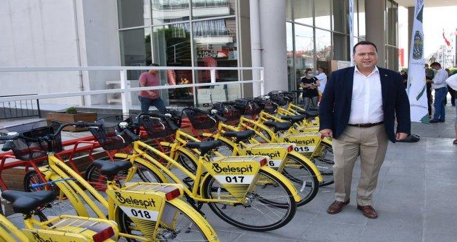Akhisar'da İlk Kez Ücretsiz Kiralık Bisiklet Dönemi