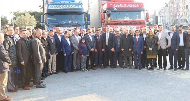 Akhisar'dan Suriye'ye 50 ton un yardımı