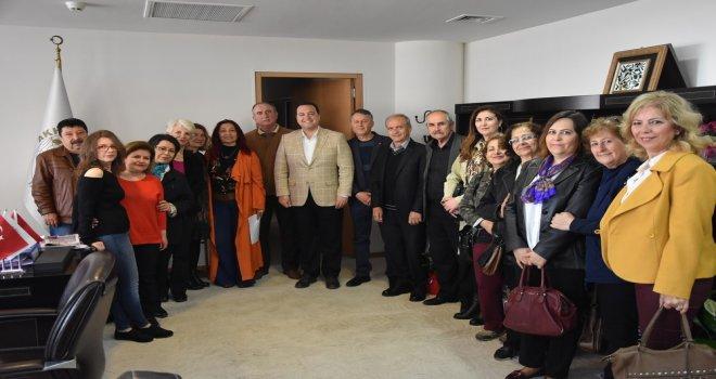 ASDER'den Belediye Başkanı Besim Dutlulu'ya ziyaret