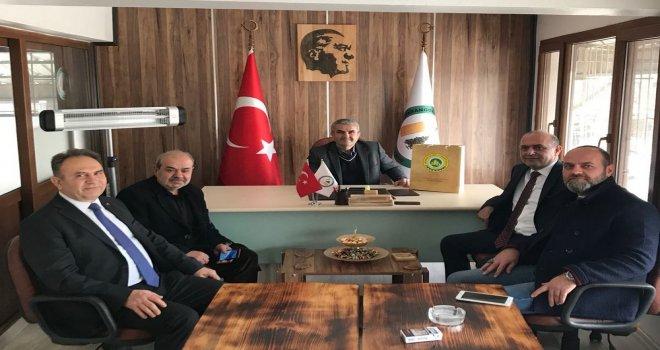 ATSO Başkanı Yılmaz, Halil İbrahim Doğan ve Hüseyin Güleç'i Ziyaret Etti