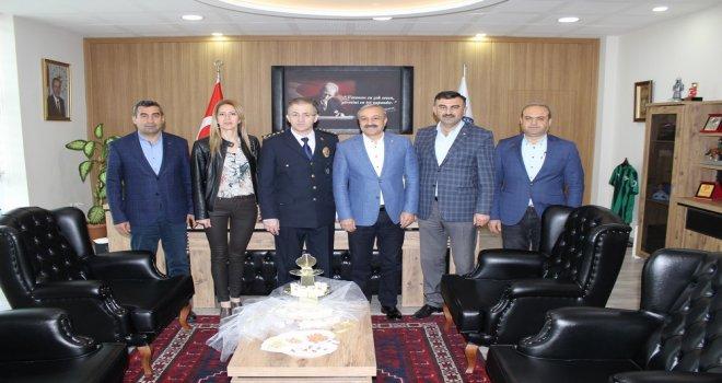 ATSO Emniyet Müdürü Pınar'ı Ziyaret Etti