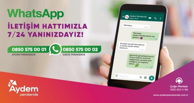 Aydem ve Gediz Perakende, Müşterilerine Bir WhatsApp Mesajı Kadar Yakın