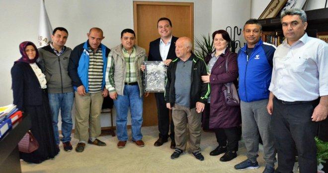 Bakım ve Rehabilitasyon Merkezinden, Başkan Dutlulu'ya ziyaret