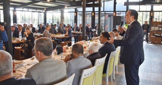 Başkan Dutlulu, Muhtarları Kahvaltıda Ağırladı