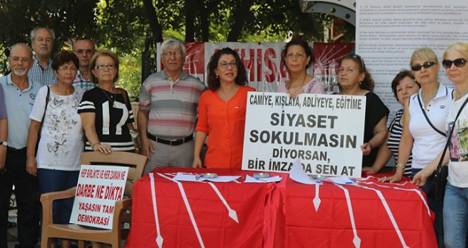CHP ilçe teşkilatından manifesto için imza kampanyası