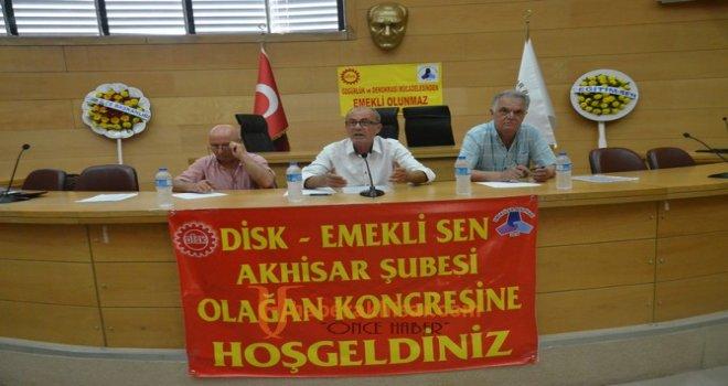 Emekliler Sendikası Akhisar Şubesi 1. Olağan Kongresi yapıldı