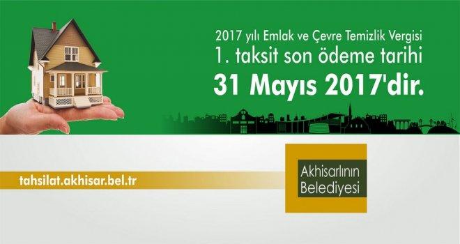 Emlak ve Çevre Temizlik Vergisi İlk Taksit Ödeme Süresi 31 Mayıs'ta Sona Eriyor