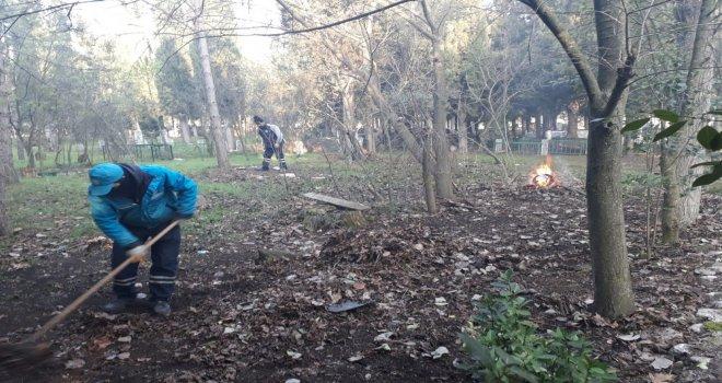 Erdelli Mezarlığı'nda Bakım Çalışması