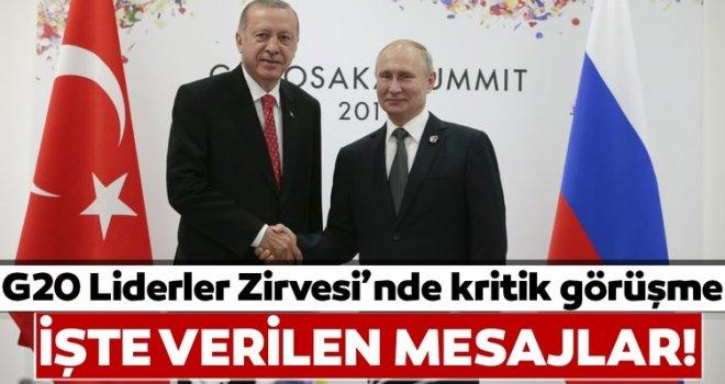 G20 ZİRVESİNDE ERDOĞAN, PUTİN GÖRÜŞMESİ