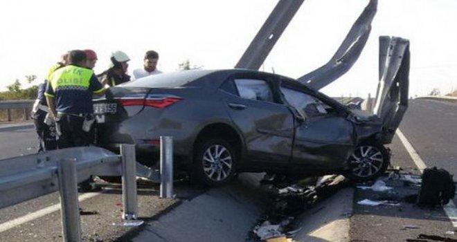 Gökçeahmet'te feci kaza: 2 kişi hayatını kaybetti