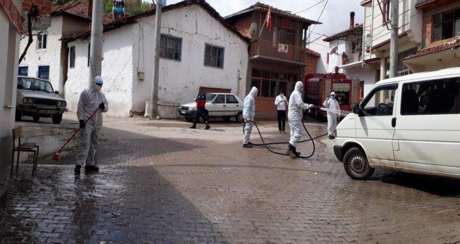 Karantinaya Alınan Mahalleyi Büyükşehir Dezenfekte Etti