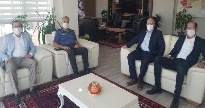 Millet Vekili Aydemir'den Kaymakam ve Emniyet Müdürüne Ziyaret