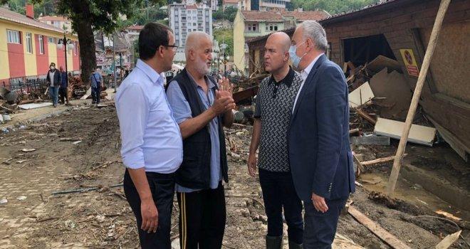 Milletvekili Bakırlıoğlu Sel Bölgesinde