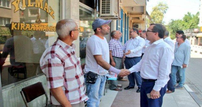 Milletvekili Uğur Aydemir, Şehzadeler ilçesinde destek istedi