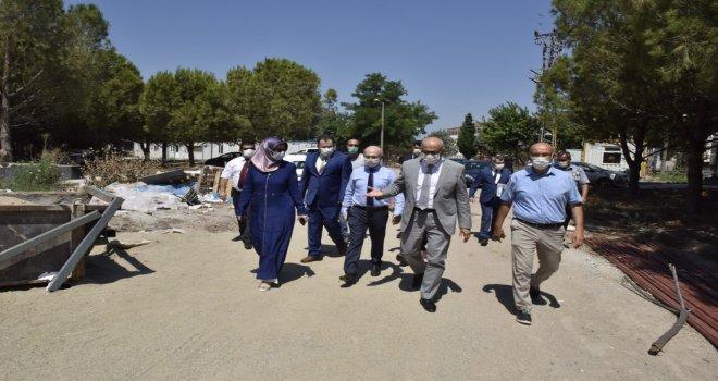 Prof. Dr. Ataç Akhisar Yerleşkesini ve Yapımı Devam Eden İnşaat Alanlarını Ziyaret Etti