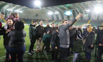 1970 saniyede Spor Toto Akhisar Belediye Stadyumunu turladılar