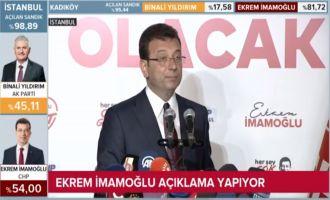 23 Haziranda  İstanbul Seçmeni Ekrem İmamoğlu dedi.