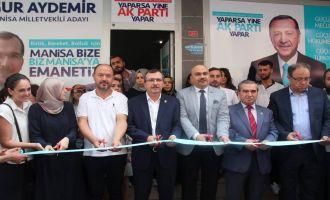 AK Parti Manisa Milletvekili Uğur Aydemir, Manisa'da 2 seçim bürosu açtı