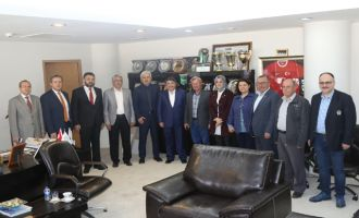 AK Partili Hüseyin Tanrıverdi'den Belediye Başkanı Salih Hızlı'ya ziyaret
