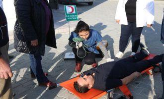 Akhisar Ağız ve Diş Sağlığı Merkezinden yangın tatbikatı