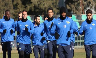 Akhisar Belediyespor, kupa maçı hazırlıklarını sürdürdü