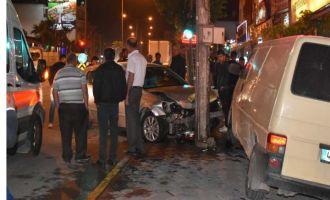 Akhisar gar kavşağındaki kazada 1 kişi yaralandı