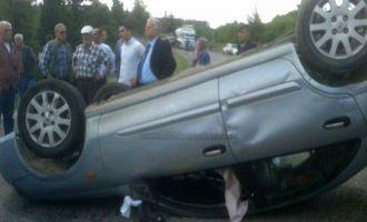 Akhisar-Gördes yolundaki kazada ağır yaralı 1 kişi hayatını kaybetti