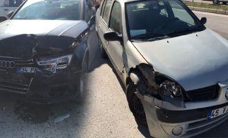Akhisar istasyon kavşağında kaza