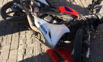 Akhisar şehir merkezinde motosiklet kazası 1 yaralı