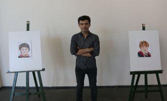 Akhisarlı genç çizer Emre Taşkıran ilk kişisel sergisini açtı