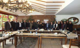 Akhisarlı Kadın Girişimciler KİT Komisyon Başkanı Uğur Aydemir'i ağırladı