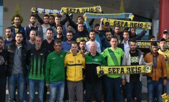 Akhisarlı taraftarlardan Fenerbahçelilere dostluk yemeği