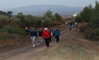 Akhisarlılar doğa ile iç içe spor yapıyor