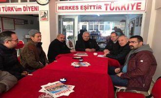 Ali Velestin MHP İlçe Teşkilatını Ziyaret Etti