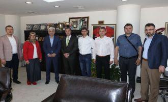 Belediye Başkanı Salih Hızlı, Bosnalı Zavidovici Belediye Başkanı'nı konuk etti