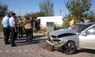Borsa önünde kaza: 4 yaralı