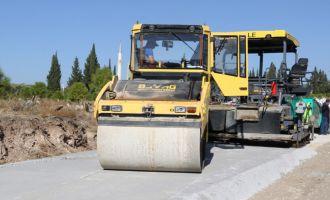 Çamönü'ne sıcak asfalt