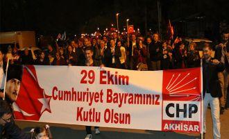 CHP Akhisar İlçe Teşkilatından Fener Alayı