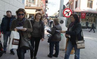 "CHP'li kadınlardan ""İSTİSMARA HAYIR!"" broşürü"