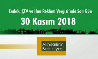 Emlak, ÇTV ve İlan Reklam Vergisi'nde Son Gün 30 Kasım