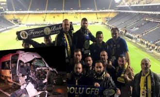 Fenerbahçe, Akhisarspor maçı izleyen taraftarlar kaza yaptı