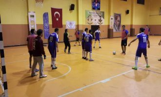 Futsal turnuvasında final grubu ikinci gün maçları yapıldı
