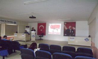 Halk Eğitim merkezi ve İlçe Sağlık Müdürlüğü, kursiyerleri bilgilendirdi